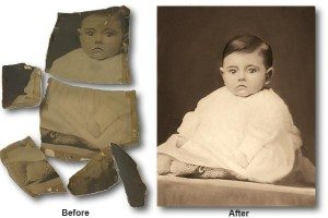 photo repair of broken baby photo